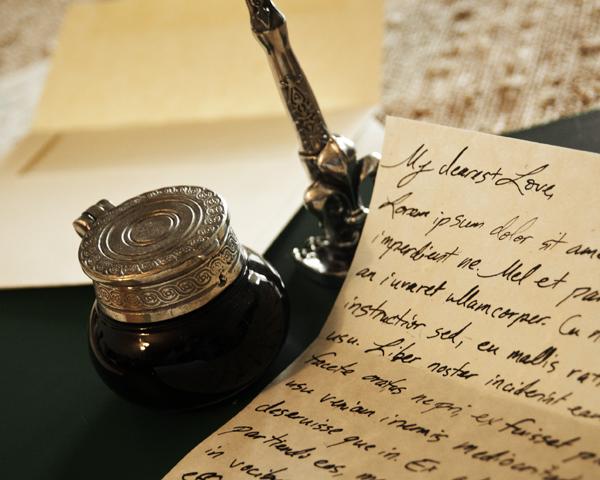 handwritten note love anniversary wedding valentine day quill pen ink dip nostalgic impressions
