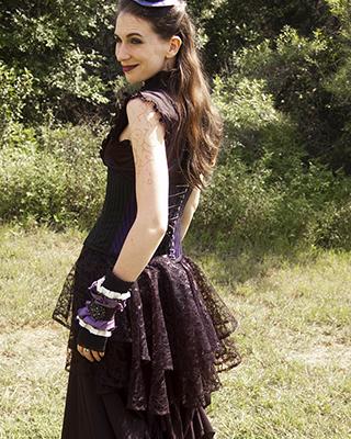 goth bustle victorian black gothic vampire